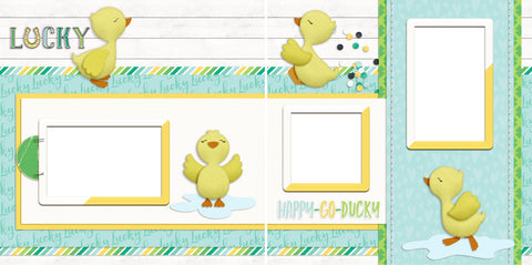 Happy Go Ducky - Digital Scrapbook Pages - INSTANT DOWNLOAD