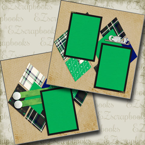 Golf Plaid - 5140 - EZscrapbooks Scrapbook Layouts Golf, Sports