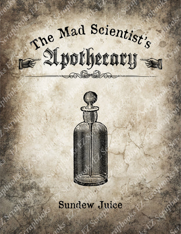 Mad Scientist Apothecary Poster 1 - 9066 - EZscrapbooks Scrapbook Layouts Halloween