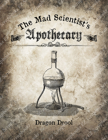 Mad Scientist Apothecary Poster 3 - 9068 - EZscrapbooks Scrapbook Layouts Halloween