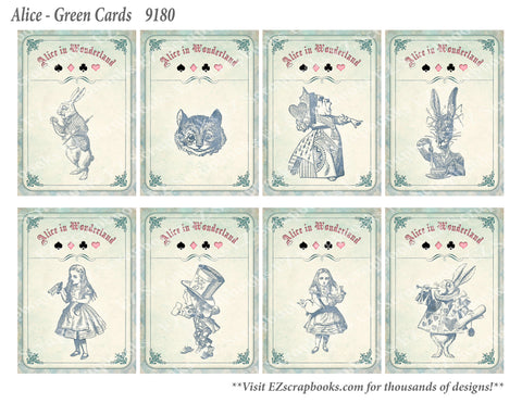 Alice Green Cards - 9180 - EZscrapbooks Scrapbook Layouts Wonderland