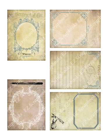 Journal Cards - 9216 - EZscrapbooks Scrapbook Layouts Cards