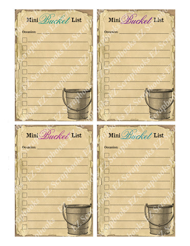 Mini Bucket List Cards - 9221 - EZscrapbooks Scrapbook Layouts Cards