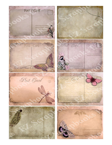 Postcard Papers ATC - 9265 - EZscrapbooks Scrapbook Layouts Cards