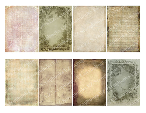 Tattered Paper 4 - 9277 - EZscrapbooks Scrapbook Layouts Cards