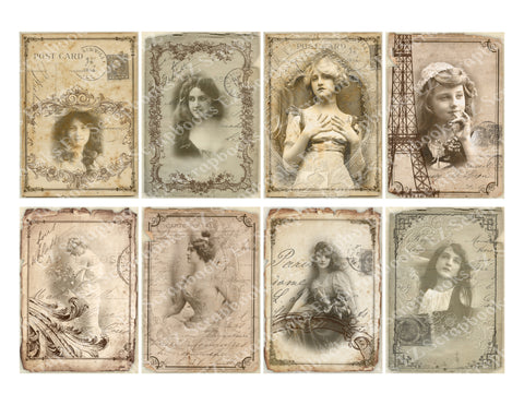 Shabby Chic Women ATC - 9300 - EZscrapbooks Scrapbook Layouts Cards