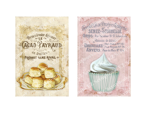 Patisserie Cards 2 - 9347 - EZscrapbooks Scrapbook Layouts Baking, Cards
