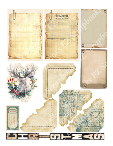 Vintage Christmas Embellishments 18 - 9395 - EZscrapbooks Scrapbook Layouts Christmas
