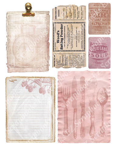 Recipe Embellishments 3 - 9408 - EZscrapbooks Scrapbook Layouts Baking, Cooking