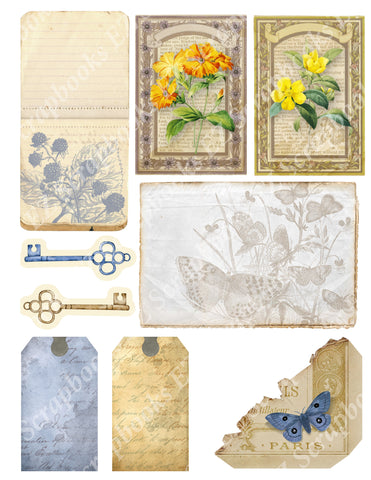 Botanical Compendium Embellishments 4 - 9417 - EZscrapbooks Scrapbook Layouts Botanical