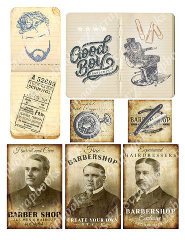 The Barber Embellishments 2 - 9420 - EZscrapbooks Scrapbook Layouts