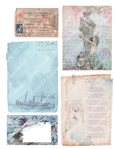 Mermaids Embellishments 4 - 9443 - EZscrapbooks Scrapbook Layouts Beach - Tropical, Mythical, Nautical
