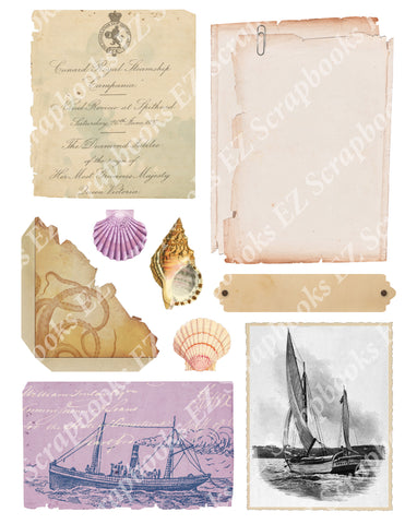 Nautical Embellishments 5 - 9450 - EZscrapbooks Scrapbook Layouts Nautical