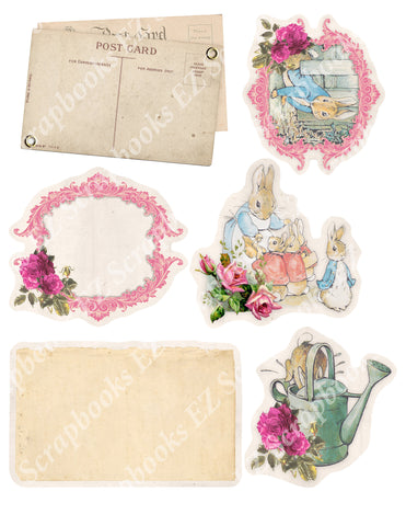 Peter Rabbit Embellishments 1 - 9452 - EZscrapbooks Scrapbook Layouts Peter Rabbit, Spring - Easter