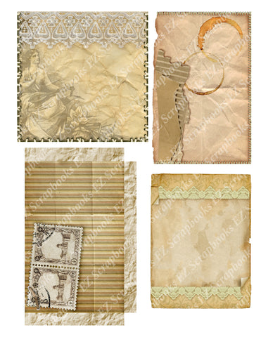 Vintage Ephemera Embellishments 2 - 9476 - EZscrapbooks Scrapbook Layouts