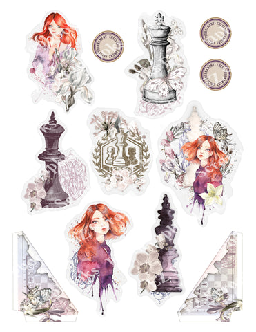 Queens Chess Embellishments 7 - 9500 - EZscrapbooks Scrapbook Layouts