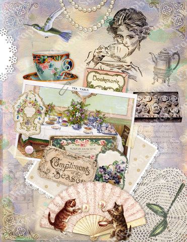 High Tea 4 Paper - 9547 - EZscrapbooks Scrapbook Layouts