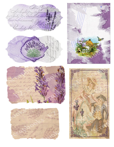 Lovely Lavender Embellishments 2 - 9550 - EZscrapbooks Scrapbook Layouts Botanical