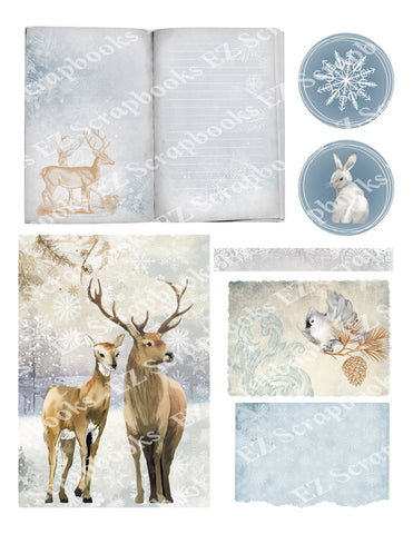 Winter Wonderland 1 - 9559 - EZscrapbooks Scrapbook Layouts Winter