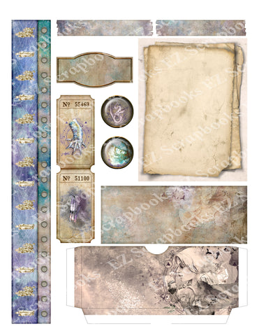 Dragon Destiny Embellishments 1 - 9564 - EZscrapbooks Scrapbook Layouts Envelope, Mythical