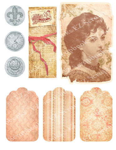 Exquisite Ephemera Embellishments 1 - 9580