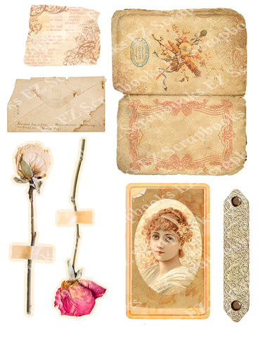 Exquisite Ephemera Embellishments 2 - 9581 - EZscrapbooks Scrapbook Layouts