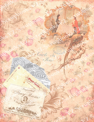 Exquisite Ephemera Embellishments 4 Paper - 9583 - EZscrapbooks Scrapbook Layouts