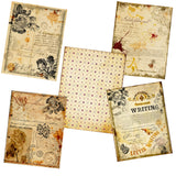 Vintage Writing Paper Pack - 7206 - EZscrapbooks Scrapbook Layouts Journals