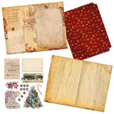 Vintage Christmas Journal Red DIY Kit - 7118