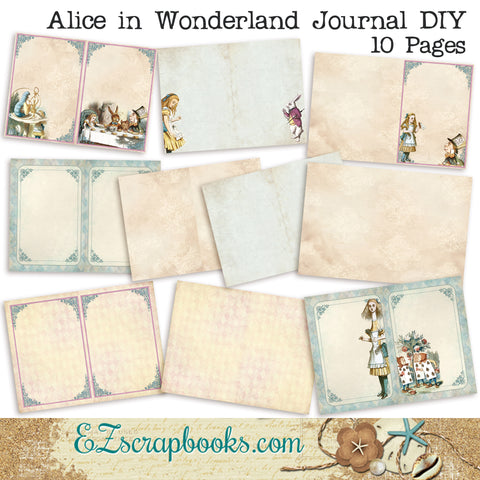 Alice in Wonderland Journal DIY - 7000