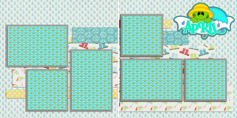 April TBD - 970 - EZscrapbooks Scrapbook Layouts Months of the Year, Spring - Easter