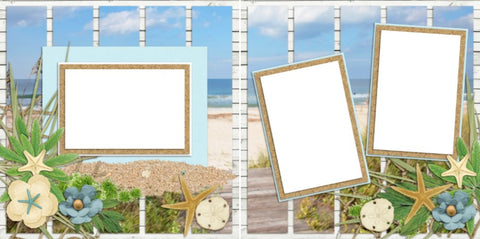 Beach Breezes- 2073 - EZscrapbooks Scrapbook Layouts Beach - Tropical, Kids, seasons, Summer, Vacation