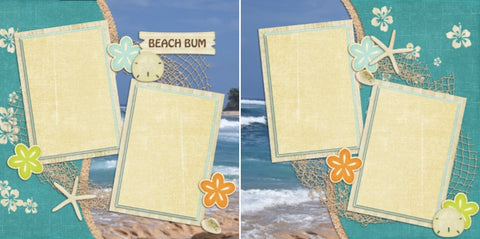 Beach Bum - 2069 - EZscrapbooks Scrapbook Layouts Beach - Tropical, Kids, Summer, Vacation