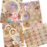 Coffee Watercolor Paper Pack - 7207 - EZscrapbooks Scrapbook Layouts Journals