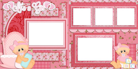 Baby Girl - 422 - EZscrapbooks Scrapbook Layouts Baby - Toddler