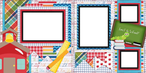 Back to School - Digital Scrapbook Pages - INSTANT DOWNLOAD