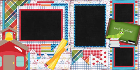 Back to School - 370 - EZscrapbooks Scrapbook Layouts School
