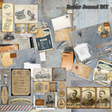 The Barber Journal - 7247 - EZscrapbooks Scrapbook Layouts Heritage, Journals