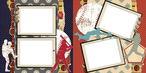 Baseball - 371 - EZscrapbooks Scrapbook Layouts baseball, Sports