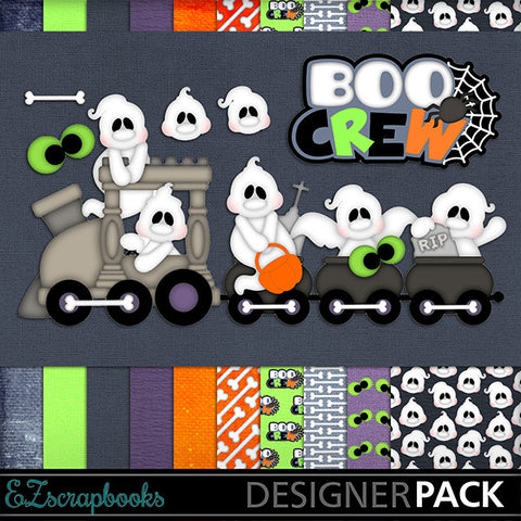 Boo Crew - Halloween - Digital Kit - INSTANT DOWNLOAD