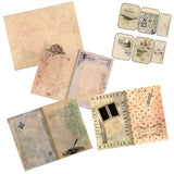Vintage Writing Junk Journal Pack - 7205 - EZscrapbooks Scrapbook Layouts Journals