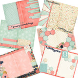 Baby Girl First Year Journal - INSTANT DOWNLOAD - EZscrapbooks Scrapbook Layouts Digital Journals