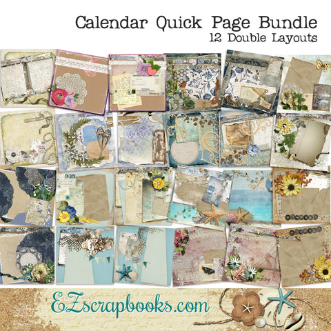 Shabby Calendar Months of the Year Pack - NPM - 1432