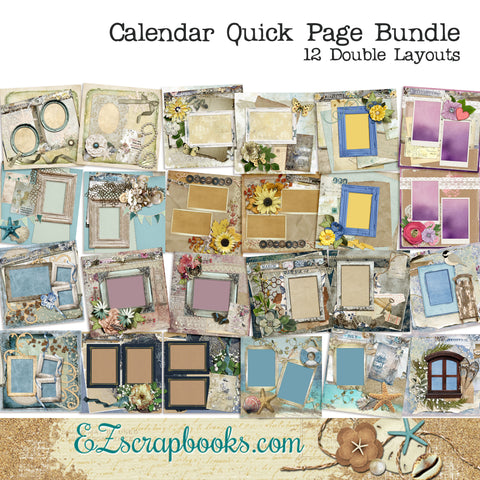 Shabby Calendar Months of the Year Pack - 1431