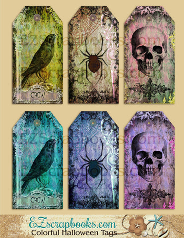 Colorful Halloween Tags - 3013