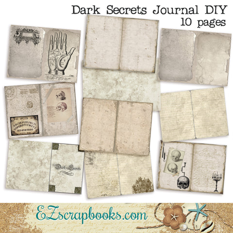 Dark Secrets - Halloween - Journal DIY Kit - 7005