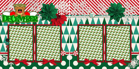 December TBD - 978 - EZscrapbooks Scrapbook Layouts Christmas, Months of the Year, Winter