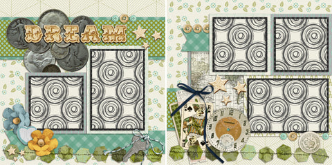 Dream - 131 - EZscrapbooks Scrapbook Layouts Family, Girls, Kids, Vacation