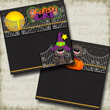 Scaredy Cat NPM - 2816 - EZscrapbooks Scrapbook Layouts Halloween