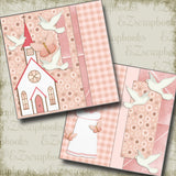 Girl Baptism NPM - 2639 - EZscrapbooks Scrapbook Layouts Baby - Toddler, Baptism, Faith - Religious, Spring - Easter